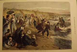 LONG BRANCH: BATHING. ILLUSTRATED LONDON NEWS