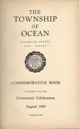 THE TOWNSHIP OF OCEAN COMMEMORATIVE BOOK
