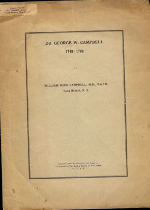 DR. GEORGE W. CAMPBELL. William King CAMPBELL