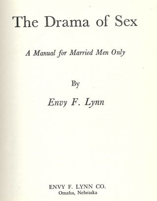 THE DRAMA OF SEX