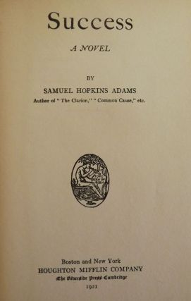 SUCCESS. Samuel Hopkins ADAMS
