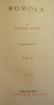 ROMOLA IN TWO VOLUMES, ORIGINAL DUST JACKETS. George ELIOT