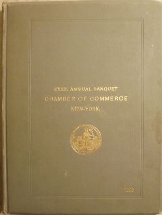 130TH ANNUAL BANQUET OF THE CHAMBER OF COMMERCE. Henry W. CANNON