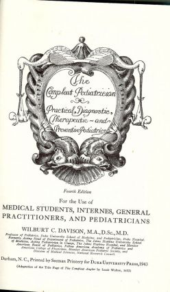 THE COMPLEAT PEDIATRICIAN. W. C. DAVISON