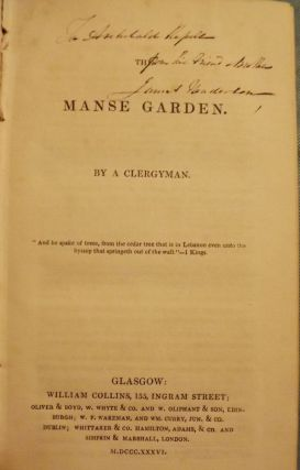 THE MANSE GARDEN. Nathaniel PATERSON