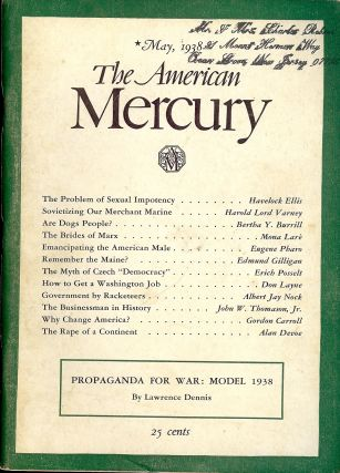 THE PROBLEM OF SEXUAL IMPOTENCY; In American Mercury; May, 1938. Havelock ELLIS