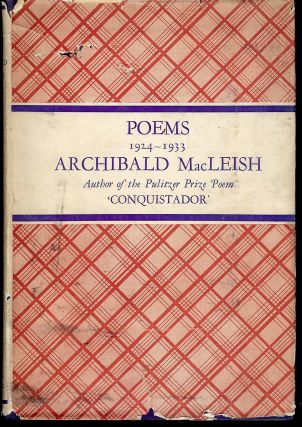 POEMS 1924-1933. Archibald MACLEISH