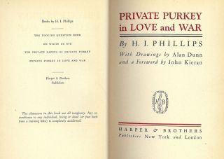 PRIVATE PURKEY IN LOVE AND WAR