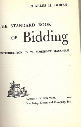 THE STANDARD BOOK OF BIDDING. Charles H. GOREN