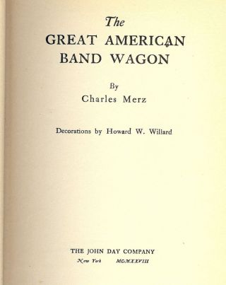 THE GREAT AMERICAN BAND-WAGON. Charles MERZ