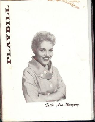 BELLS ARE RINGING PLAYBILL PROGRAM. Judy HOLLIDAY