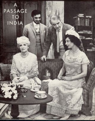 A PASSAGE TO INDIA PLAYBILL PROGRAM. E. M. FORSTER