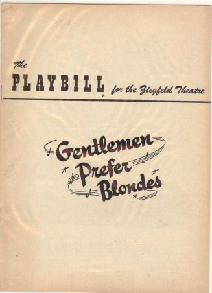 GENTLEMEN PREFER BLONDES PLAYBILL PROGRAM. Carol CHANNING
