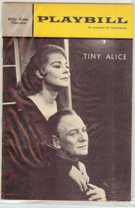 TINY ALICE PLAYBILL PROGRAM. Edward ALBEE