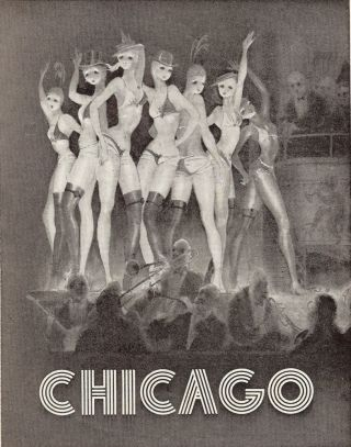 CHICAGO PLAYBILL PROGRAM. Bob FOSSE
