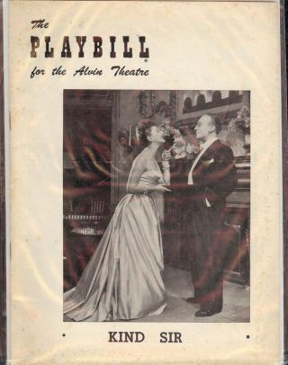 KIND SIR PLAYBILL PROGRAM. Norman KRASNA