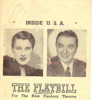 INSIDE USA PLAYBILL PROGRAM. Jack HALEY