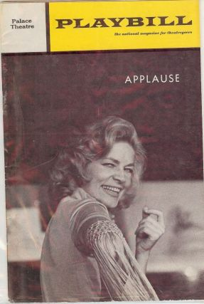 APPLAUSE PLAYBILL PROGRAM. Lauren BACALL