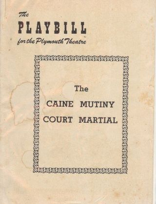 THE CAINE MUTINY COURT MARTIAL PLAYBILL PROGRAM. Henry FONDA