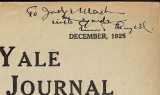 YALE LAW JOURNAL: DECEMBER, 1925