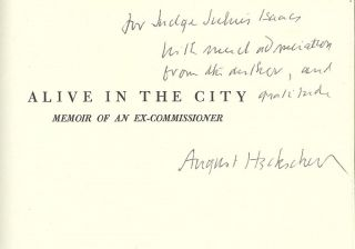 ALIVE IN THE CITY: MEMOIR OF AN EX-COMMISSIONER