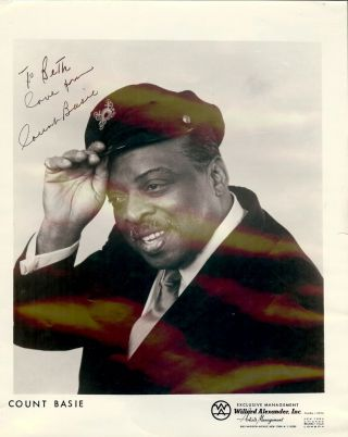 Signed Photograph. Count BASIE