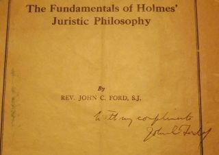 THE FUNDAMENTALS OF HOLMES' JURISTIC PHILOSOPHY
