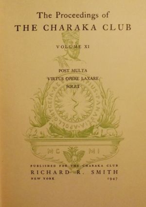 THE PROCEEDINGS OF THE CHARAKA CLUB: VOLUME XI. Karl VOGEL