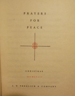 PRAYERS FOR PEACE: CHRISTMAS. L. W. FROHLICH