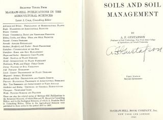 SOILS AND SOIL MANAGEMENT. A. F. GUSTAFSON