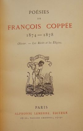 POESIES DE FRANCOIS COPPEE, 1864-1878 THREE VOLUMES. Francois COPPEE