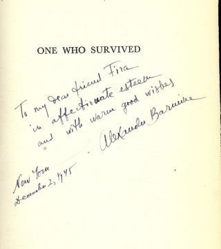 ONE WHO SURVIVED: THE LIFE STORY OF A RUSSIAN UNDER THE SOVIETS