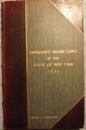 EMERGENCY RELIEF IN THE STATE OF NEW YORK. Henry EPSTEIN