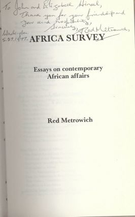 AFRICA SURVEY: ESSAYS ON CONTEMPORARY AFRICAN AFFAIRS