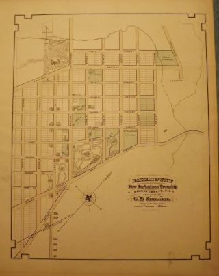 BERGEN COUNTY: FAIRMOUNT, NEW BARBADOES TOWNSHIP 1876 MAP
