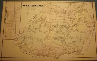 BERGEN COUNTY: WASHINGTON TOWNSHIP, HOHOKUS, PARK RIDGE, WESTWOOD MAP. C. C. PEASE
