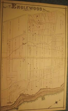 BERGEN COUNTY: ENGLEWOOD 1876 MAP. C. C. PEASE
