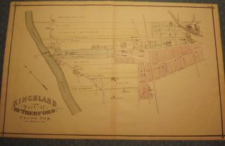 BERGEN COUNTY: KINGSLAND AND PART OF RUTHERFORD 1876 MAP. C. C. PEASE