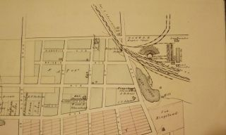 BERGEN COUNTY: KINGSLAND AND PART OF RUTHERFORD 1876 MAP