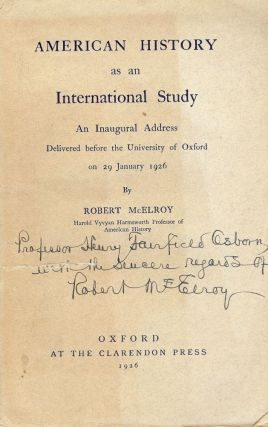 AMERICAN HISTORY AS AN INTERNATIONAL STUDY. Robert MCELROY