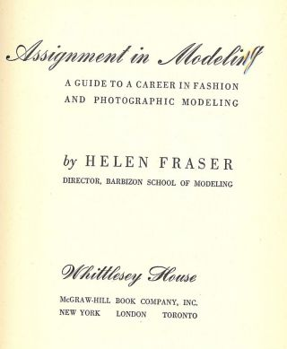 ASSIGNMENT IN MODELING. Helen FRASER