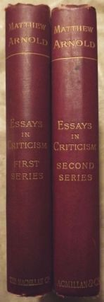 ESSAYS IN CRITICISM: SERIES ONE AND TWO- TWO VOLUMES