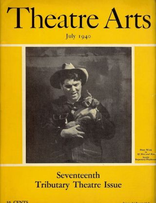 Theatre Arts Magazine, July, 1940. Edith J. R. ISAACS