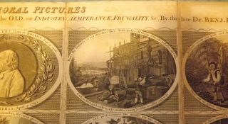 BOYLE'S MORAL PICTURES; OR POOR RICHARD ILLUSTRATED. BEING LESSONS FOR THE YOUNG AND THE OLD, ON INDUSTRY, TEMEPERENCE, FRUGALITY, & CC. BY THE LATE DR. BENJ. FRANKLIN.