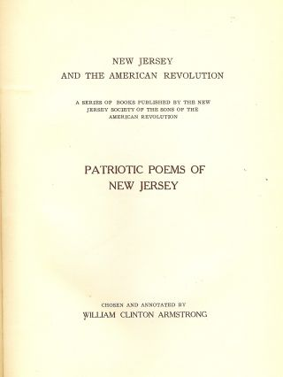 PATRIOTIC POEMS OF NEW JERSEY