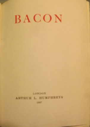 THE ESSAYS OF BACON