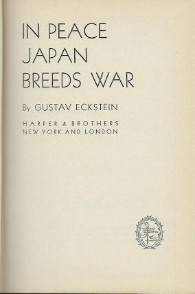 IN PEACE JAPAN BREEDS WAR