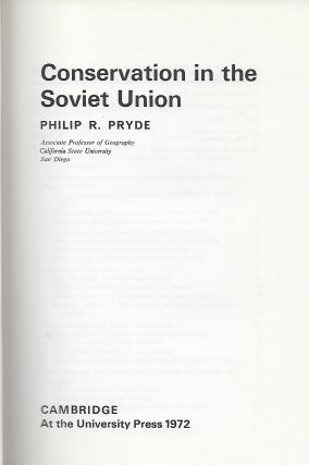 CONSERVATION IN THE SOVIET UNION