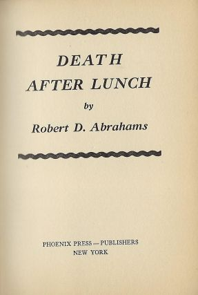 DEATH AFTER LUNCH