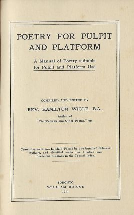 POETRY FOR PULPIT AND PLATFORM
